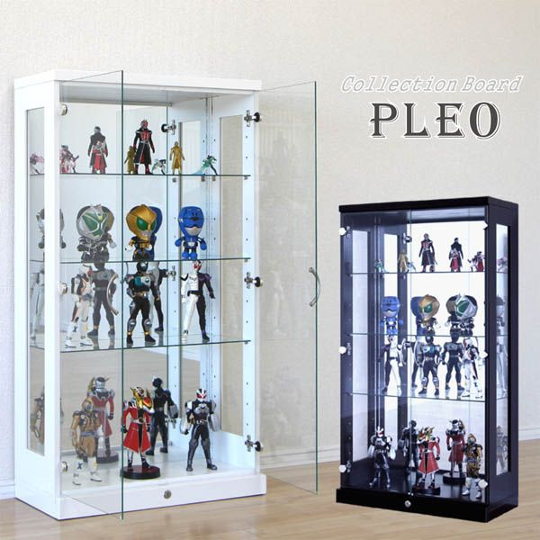 コレクションケース コレクションボード キュリオケース ディスプレイ 飾り棚 LED フィギュアラック 鍵付 送料無料