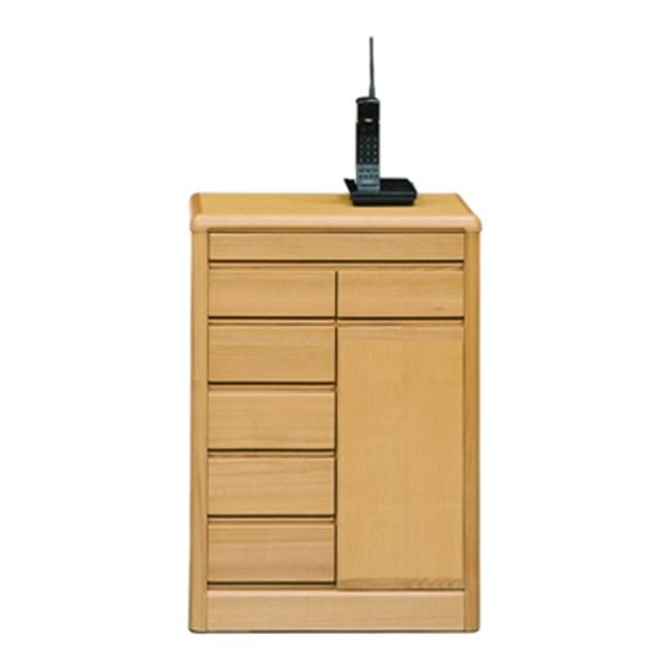 サイドボード キャビネット 幅60cm シンプル 木製 リビングボード 電話台 FAX台 ナチュラル リビング収納 収納家具 送料無料