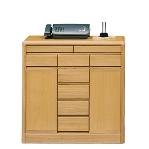 サイドボード キャビネット 幅90cm シンプル 木製 リビングボード 電話台 FAX台 ナチュラル リビング収納 収納家具