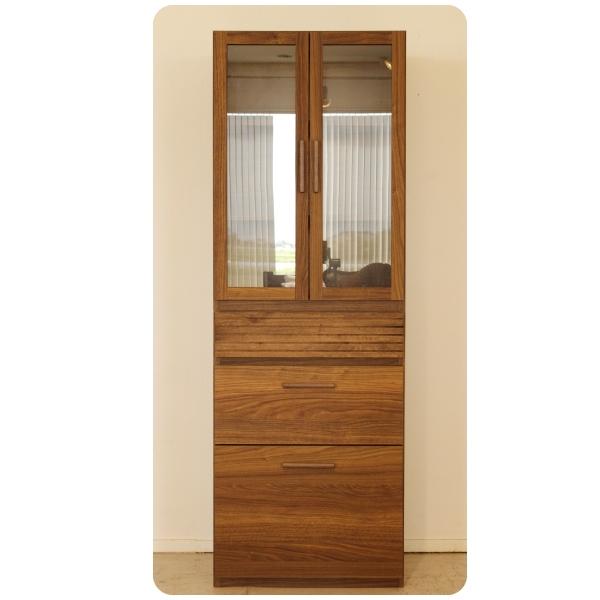 食器棚 ダイニングボード 幅60cm キッチン収納 収納家具 シンプル モダン おしゃれ ブラウン 木製