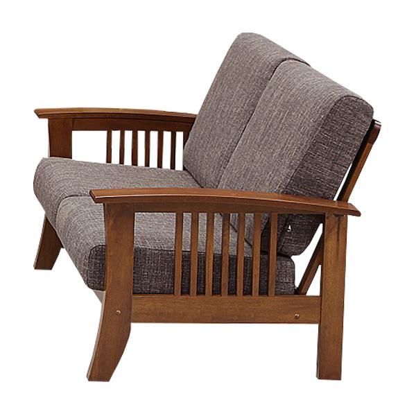 ソファ 2Pソファ 二人掛け ソファー ラブチェア 布地 二人用 2人掛け チェア 椅子 リビング 木製 幅124cm モダン 北欧風