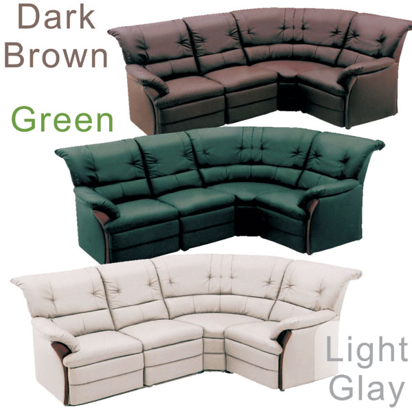 All Four Points Of Sofa Corner Sofa Set High Background Type Reception Sofa  Synthetic Leather [light Gray Green Dark Brown] Three Colors