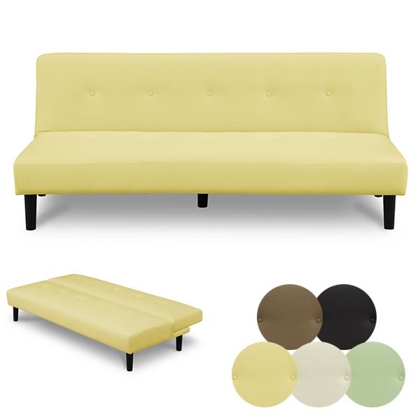 ソファ ソファベッド シンプル PVC 合成皮革 ソファー ベッド 3Pソファ 三人掛け 2way モダン リクライニング シングルベッド