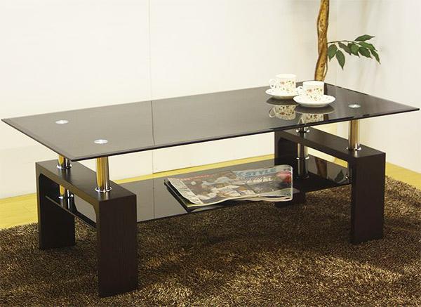 センターテーブル ガラステーブル テーブル ロータイプ ローテーブル テレビ台 テレビボード TV台 強化ガラス おしゃれ 長方形 幅105cm