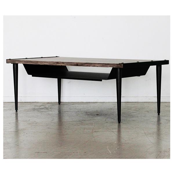 センターテーブル テーブル リビングテーブル 幅105cm アンティーク調 スチール製 パーチクルボード 完成品