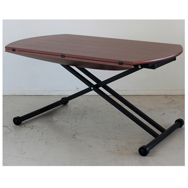 【ポイント3倍 8/9 9:59まで】 センターテーブル テーブル リビングテーブル 幅120cm 昇降式 天板拡張 リフティング スチール製 MDF 組立品 送料無料