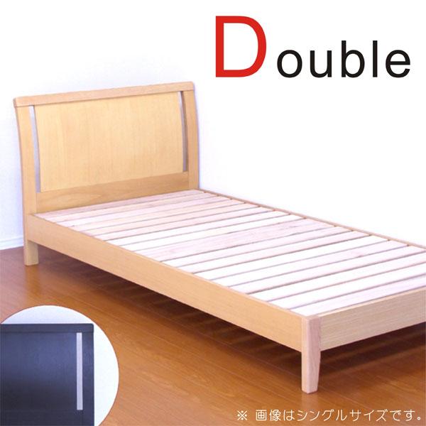 ダブルベッド ベッド ベッドフレーム すのこ 木製