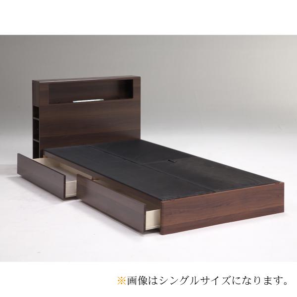 ベッド ダブルベッド ベッドフレームのみ ダブルサイズ ダブル ナチュラル ブラウン ボックス おしゃれ