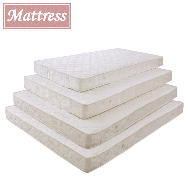マットレス ベッド マット セミダブルサイズ 厚さ17cm ボンネルコイル [ ホワイト ] 【smtb-ms】 【YDKG-ms】 送料無料