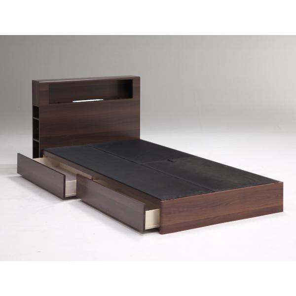 ベッド シングルベッド ベッドフレームのみ シングルサイズ シングル ナチュラル ブラウン ボックス おしゃれ