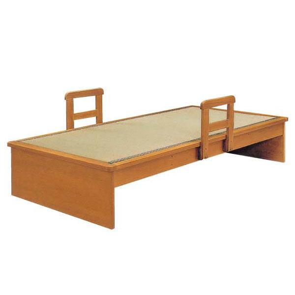 畳ベッド ベッドフレーム ベッド シングルベッド 和風 モダン 畳付き スノコベッド 木製 手摺り付き