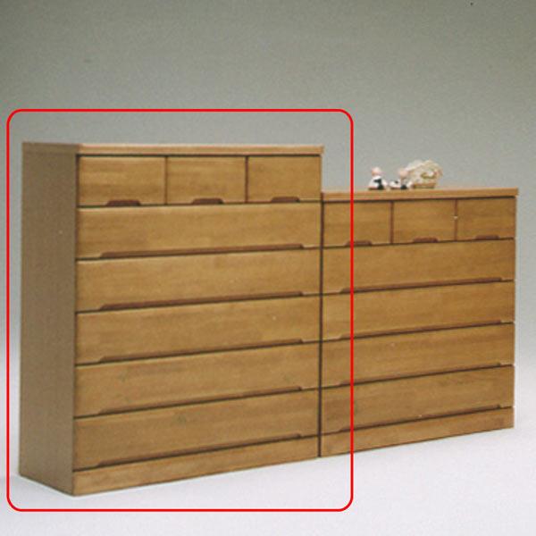 チェスト タンス ハイチェスト 幅100cm 引き出し 6段 木製 完成品 モダン 送料無料