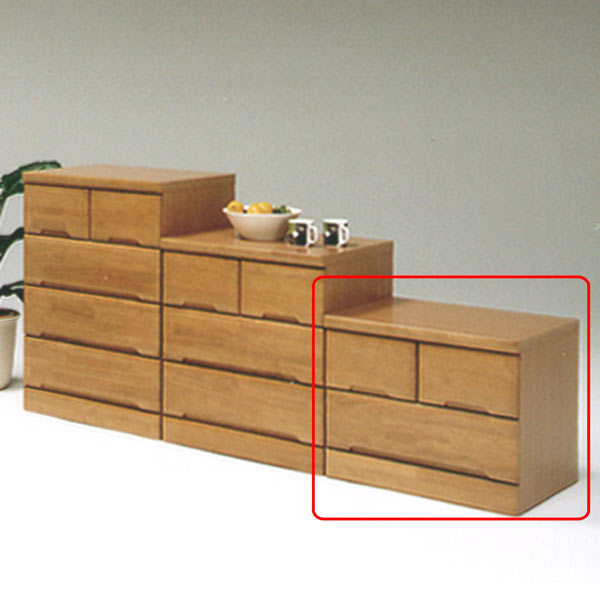 チェスト タンス ローチェスト 幅60cm 引き出し 2段 木製 完成品