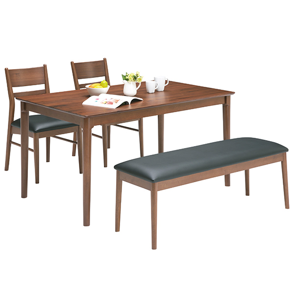 ダイニングセット ダイニングテーブルセット シンプル モダン 4点 食卓テーブルセット 4人用 ベンチ 木製