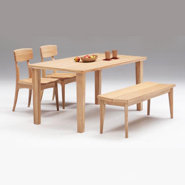 ダイニングテーブルセット ダイニングセット 4人用 ベンチ付き 4点セット 4人掛け 幅150cm 木製 北欧 シンプル ナチュラル