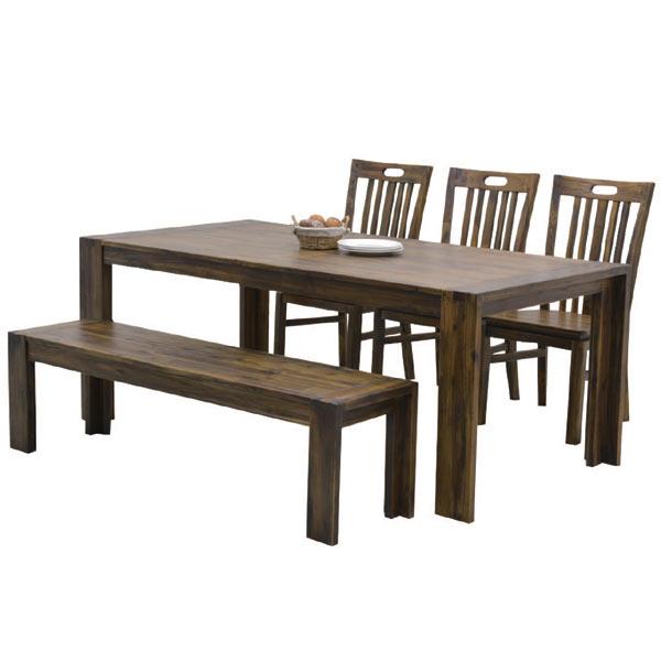 ダイニングセット 6人用 ダイニングテーブルセット 5点セット 食卓セット おしゃれ モダン ベンチ 木製 幅180cm