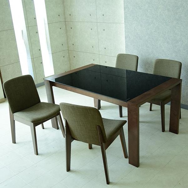 ダイニングテーブル5点セット ダイニングセット 4人用 4人掛け 5点セット 幅150cm 食卓セット テーブル チェア ガラス 木製 シンプル モダン おしゃれ
