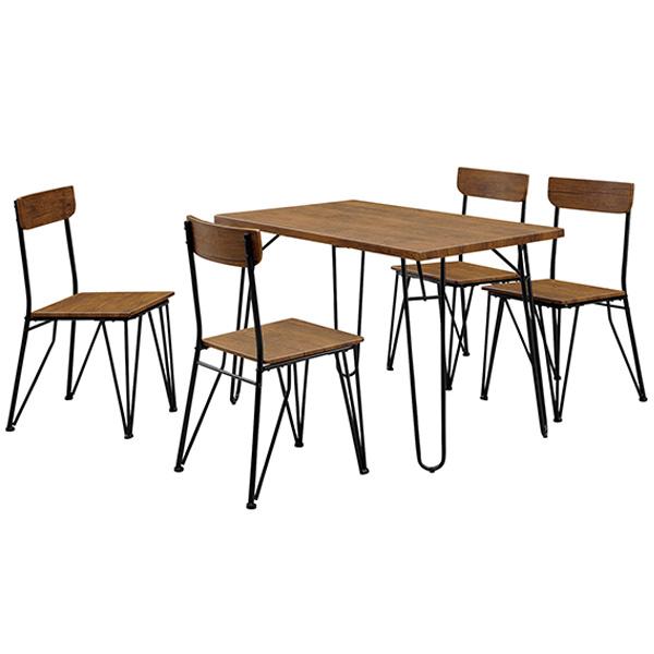 ダイニングテーブル5点セット ダイニングセット 4人掛け 4人用 5点セット 110 木製 おしゃれ 北欧モダン ダイニング