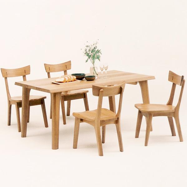 ダイニングテーブルセット ダイニングセット ナチュラル タモ 木製 5点セット 幅150cm テーブル 肘無し 椅子 四人掛け