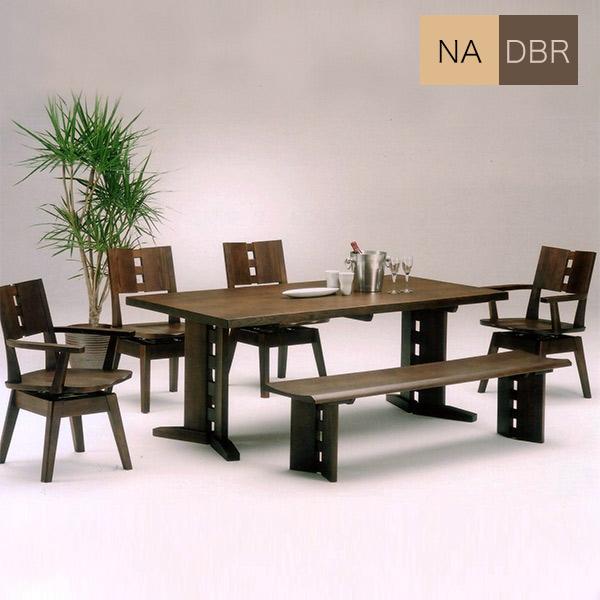 ダイニングセット ダイニングテーブルセット モダン おしゃれ 幅180cm 食卓セット 6点 6人掛け ベンチ 回転チェア 木製 テーブル