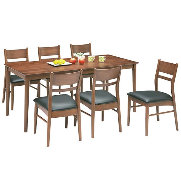 【ポイント3倍 8/9 9:59まで】 ダイニングセット ダイニングテーブルセット シンプル モダン 7点 食卓テーブルセット 6人用 木製 送料無料