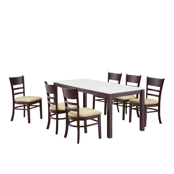 ダイニングセット ダイニングテーブル7点セット 6人用 6人掛け 7点セット 幅165cm 食卓セット テーブル チェア 木製 シンプル モダン 送料無料