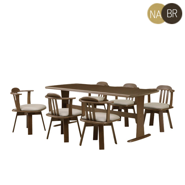 ダイニングセット ダイニングテーブル7点セット 6人用 6人掛け 7点セット 幅180cm 食卓セット テーブル チェア 木製 シンプル モダン