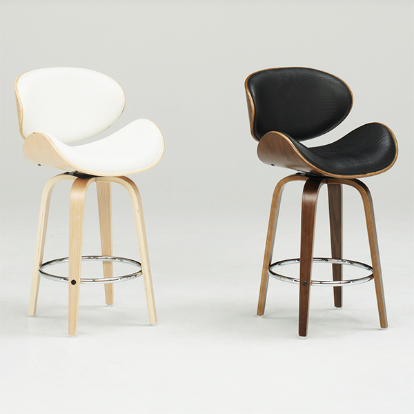 チェア バーチェア カウンターチェア 椅子 固定 いす 背もたれ付き ハイタイプ ハイチェア カフェ PU ソフトレザー シンプル モダン