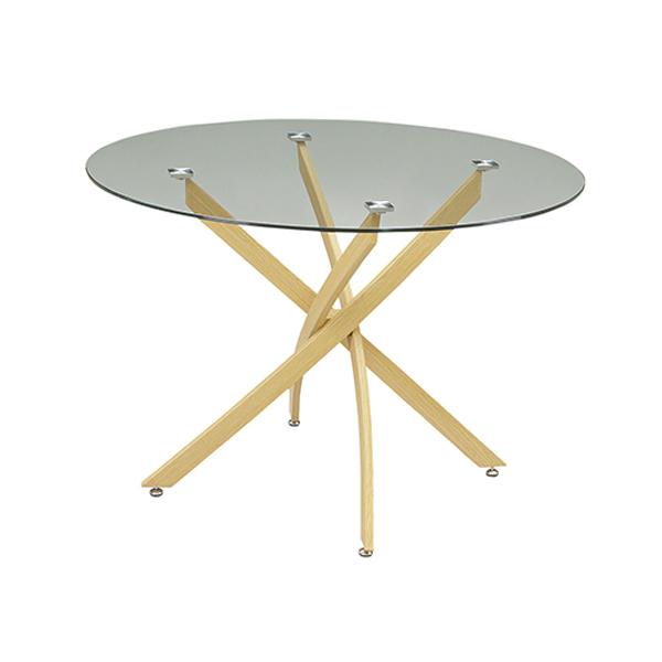 ガラスダイニングテーブル ダイニングテーブル ガラステーブル テーブル 110 円形 丸型 シンプル おしゃれ モダン