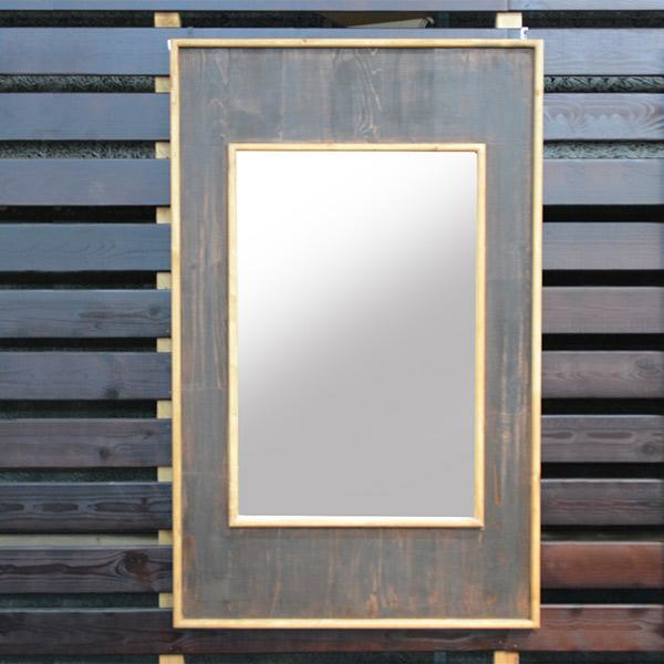 鏡 ミラー おしゃれ ウッドフレーム 壁掛けミラー 木製 雑貨 デザインミラー モダン 幅70cm カガミ 四角 長方形 生活雑貨 送料無料