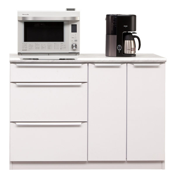 カウンター キッチンカウンター 幅120cm 完成品 レンジ台 キッチン収納 食器棚 間仕切り 日本製 おしゃれ