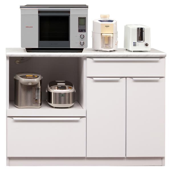 カウンター キッチンカウンター 幅120cm 完成品 レンジ台 キッチン収納 食器棚 間仕切り スライドカウンター付き コンセント付き 日本製 おしゃれ 送料無料