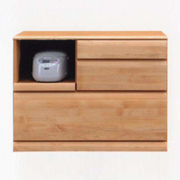キッチンカウンター キッチン台 幅100cm キッチン収納 カウンター 木製 家具 北欧風 食器収納 日本製 完成品