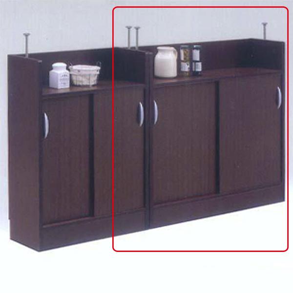 キッチンカウンター カウンター下収納 食器棚 引き戸 キッチン収納 棚 幅90 スライド扉 収納家具 おしゃれ 日本製 キッチン 完成品