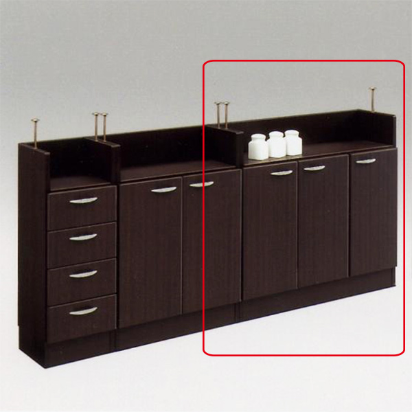 キッチンカウンター カウンター下収納 幅90 開き扉 キッチン収納 キッチンボード 収納家具 おしゃれ 日本製 完成品