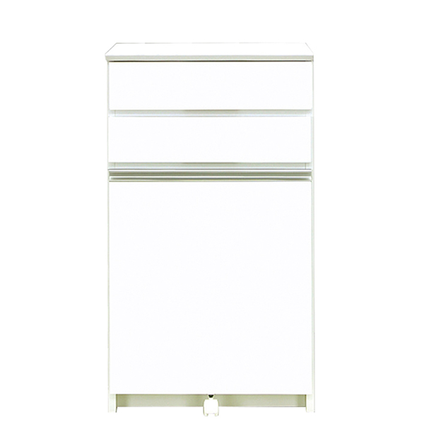 キッチンカウンター ダストボックス ダストカウンター キッチン収納 ホワイト 白 幅55cm ペール付き 日本製 国産 送料無料