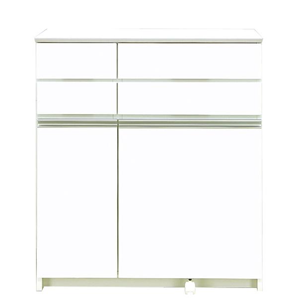キッチンカウンター ダストボックス ダストカウンター キッチン収納 ホワイト 白 幅90cm ペール付き 日本製 国産