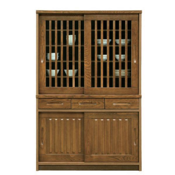 ダイニングボード 食器棚 おしゃれ キッチンボード キッチン収納 木製 完成品 引き戸 幅120cm 【 開梱設置無料 】 完成品