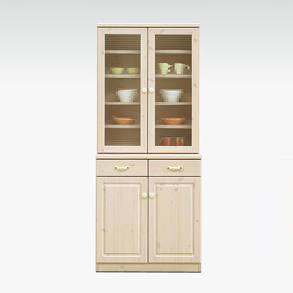 ダイニングボード 食器棚 北欧 パイン 無垢 カップボード 食器収納 キッチン収納 幅75 完成品 日本製 国産 おしゃれ
