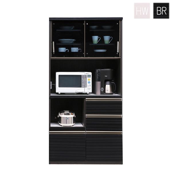 レンジ台 レンジボード 食器棚 ダイニングボード キッチン収納 カップボード 収納家具 日本製 幅90cm 白 ホワイト 木製 シンプル おしゃれ