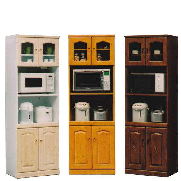 レンジ台 レンジボード 幅60cm ハイタイプ 食器棚 キッチン収納 木製 完成品