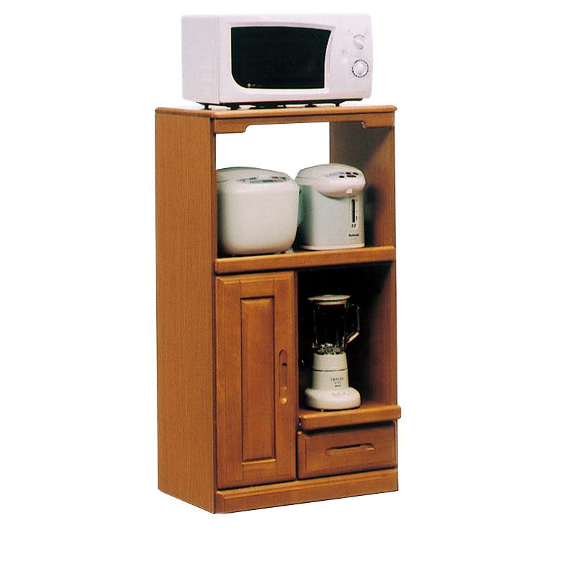 レンジ台 キッチン収納 レンジボード 幅60cm 台所 家電収納 家具 スライドカウンター付 コンセント付 完成品