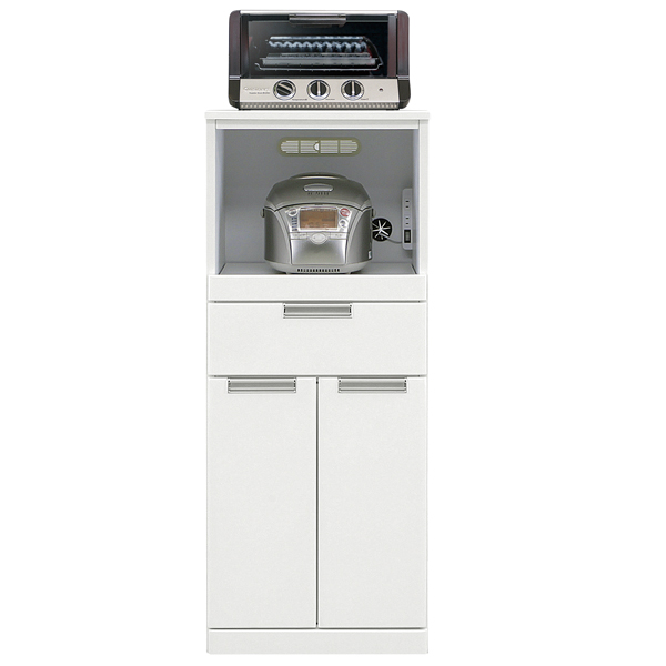 レンジボード レンジ台 幅50cm 50幅 完成品 キッチン収納 スリム シンプル すきま収納 送料無料