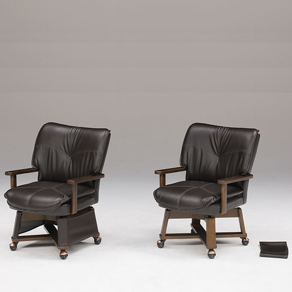 椅子 ダイニングチェア こたつ用 チェア チェアー シンプル モダン 肘付き キャスター付き ダイニング椅子 ソファ 一人掛け