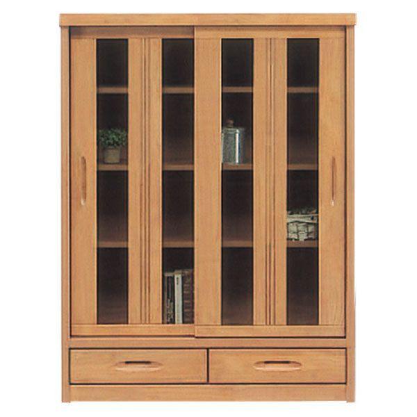 本棚 フリーボード 飾り棚 書棚 リビング収納 木製 幅90cm ミドルタイプ ガラス 完成品