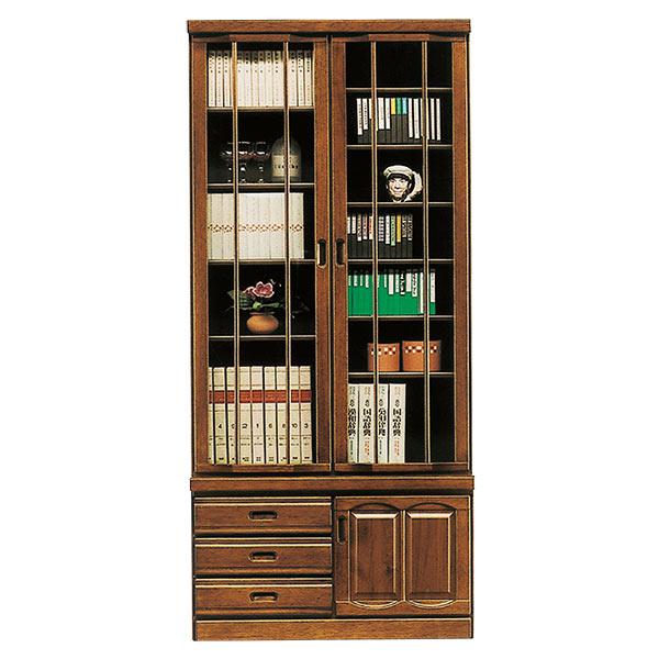 本棚 書棚 フリーボード 飾り棚 和風 モダン リビング収納 【 開梱設置無料 】 木製 幅90cm おしゃれ ハイタイプ