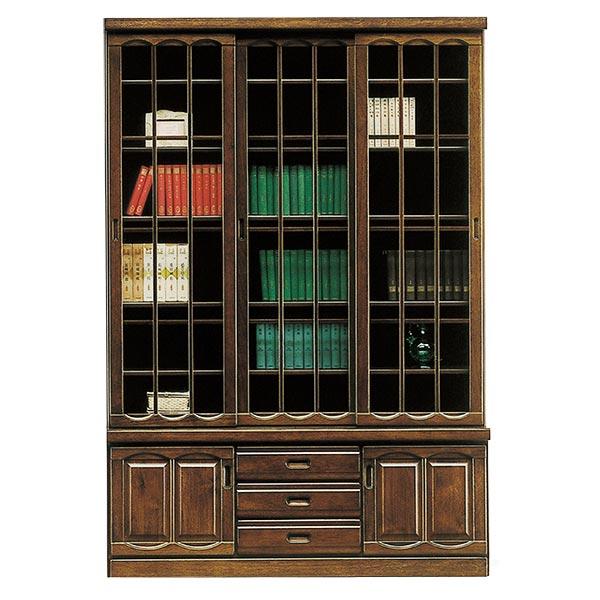 本棚 書棚 木製 幅135cm フリーボード 飾り棚 ハイタイプ 和風 モダン リビング収納 【 開梱設置無料 】 完成品