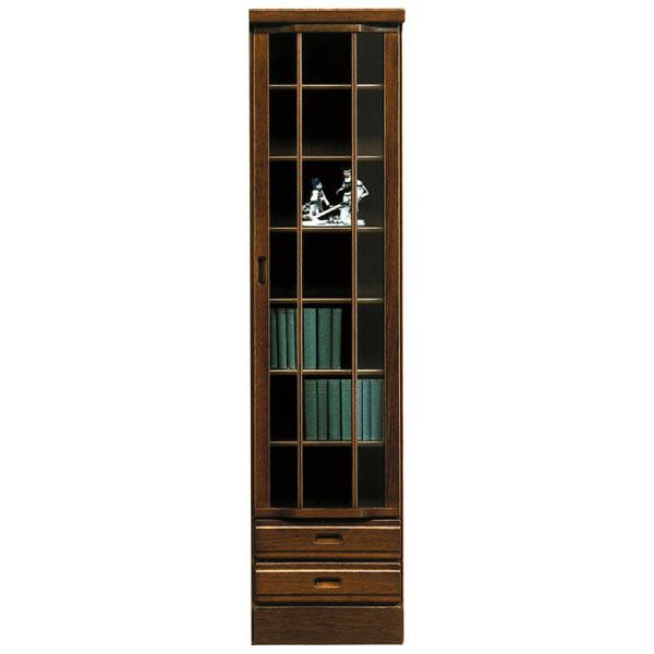 本棚 リビングボード フリーボード 隙間収納 日本製 飾り棚 扉付き リビング収納 木製 幅45cm 和 モダン 書棚 ハイタイプ おしゃれ