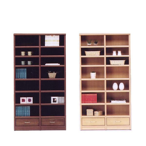 本棚 書棚 フリーボード 飾り棚 リビング収納 収納家具 木製 引出 幅98cm 完成品 日本製 北欧風 シンプル おしゃれ モダン