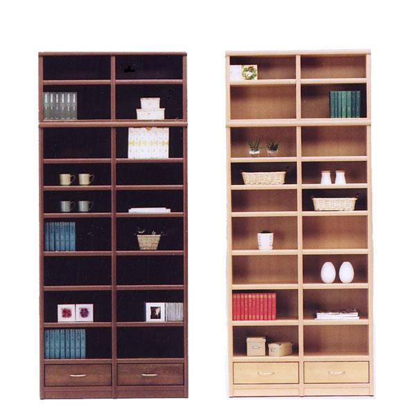 本棚 書棚 フリーボード 飾り棚 リビング収納 収納家具 木製 引出 幅98cm 完成品 日本製 北欧風 シンプル おしゃれ モダン 送料無料